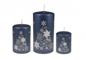 Weihnachtsbaumkerze Blau