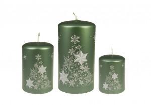 Weihnachtsbaumkerze Grün