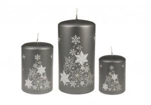 Weihnachtsbaumkerze Grau