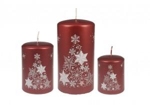 Weihnachtsbaumkerze Rot