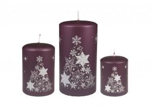 Weihnachtsbaumkerze Violett