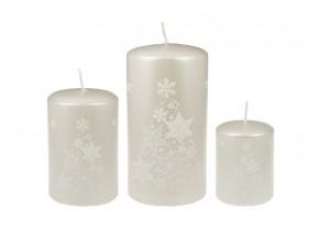 Weihnachtsbaumkerze Weiß